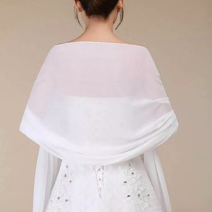 New beautiful silky wrap shawl in white or silver
